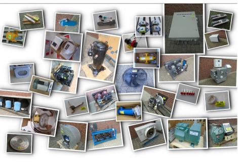 Nieuw en ruim assortiment installaties en onderdelen