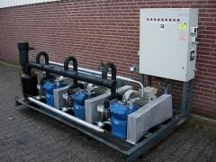 Centrale koel installatie Bock 120 kw.