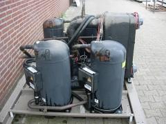 machine set met warmte wisselaar voor koudwater R410a.