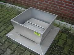 Dak ventilatie rooster met bediening.
